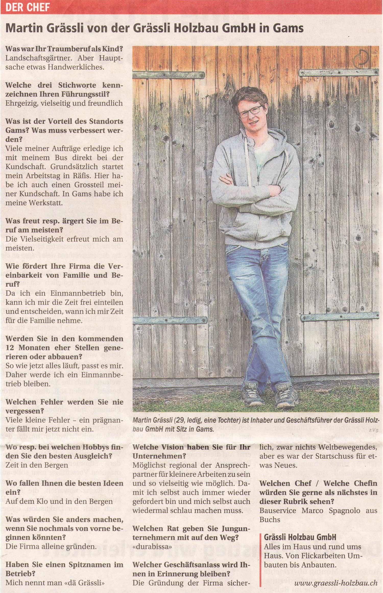 Beitrag Oberland Nachrichten